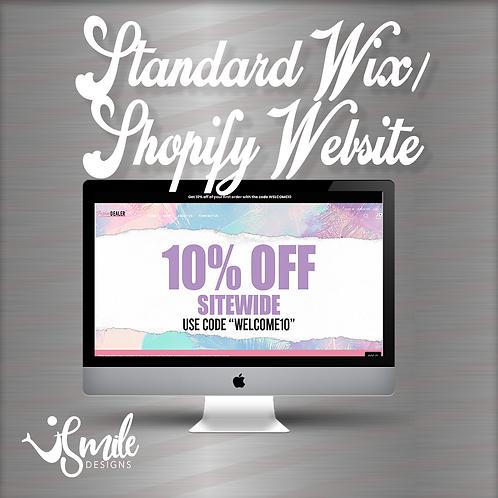 Standard Wix/Shopify Website