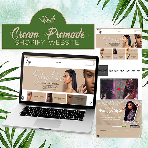 Cream Shopify PremadeWebsite