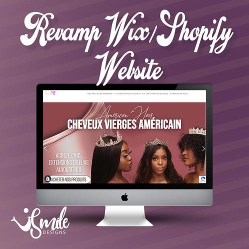Revamp Wix/Shopify Website