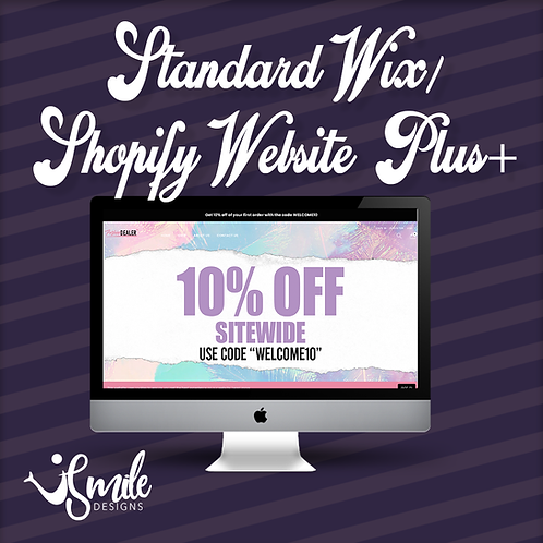 Standard Wix/Shopify Website Plus