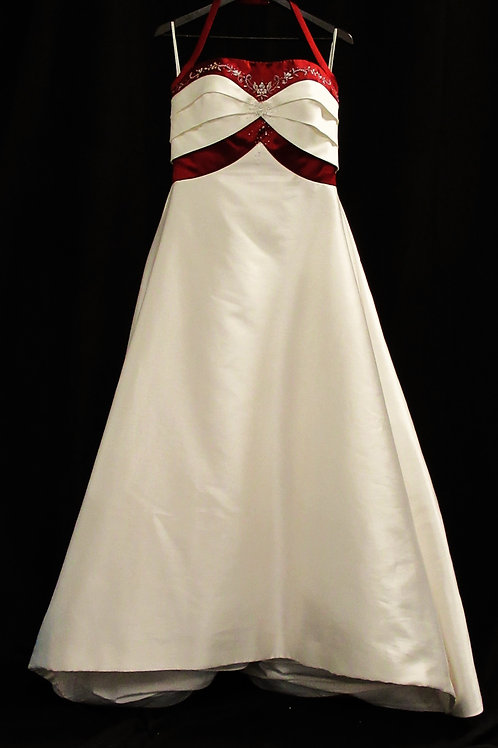Classic Red and White Gown (#2002-1)