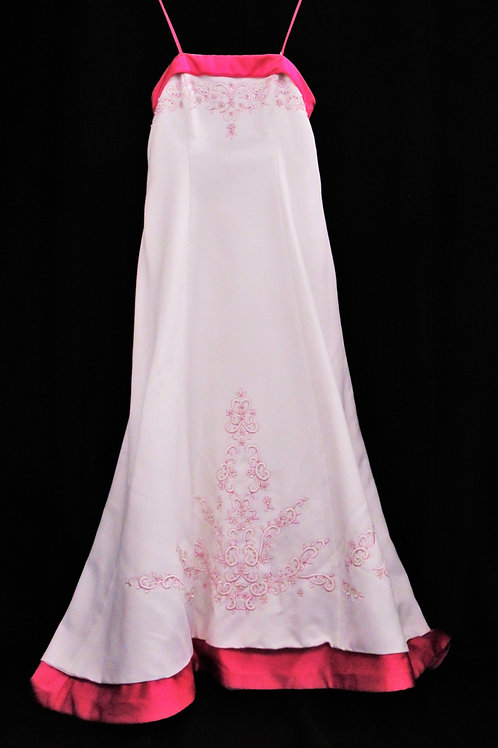 Pink Accent Gown (#677-1)