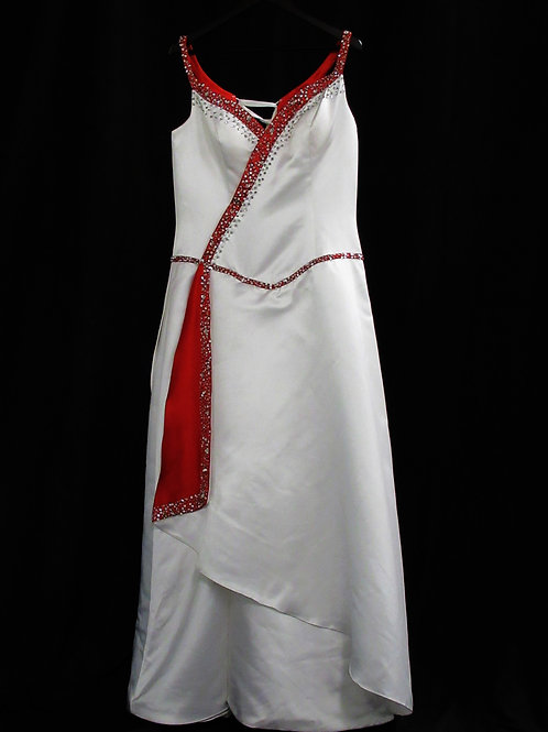 Elegant Red and White Gown (#00-1)