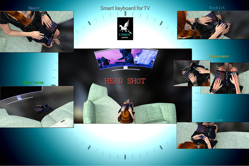 head shot , pc games to tv, keyboard for