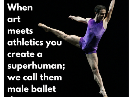 When art meets athletics you create a superhuman; we call them male ballet dancers