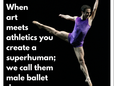 When art meets athletics you create a superhuman; we call them male ballet dancers