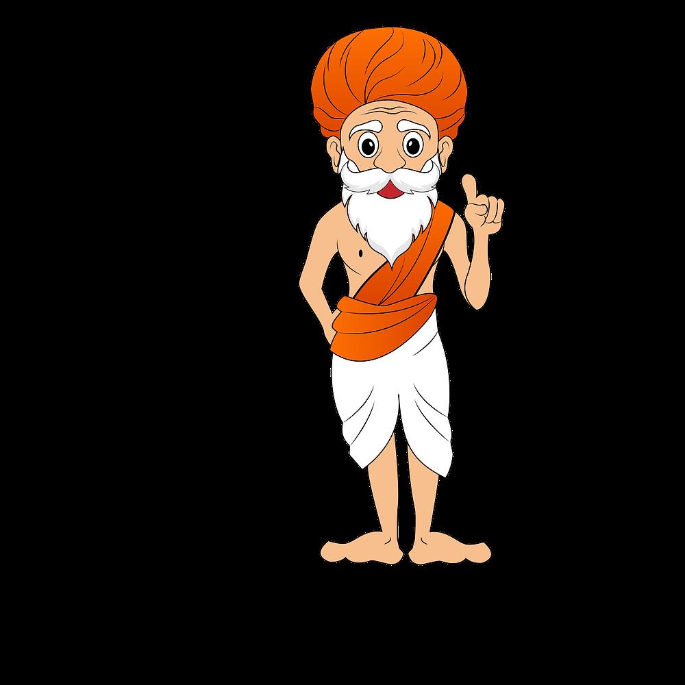 the dance guru mascot standing up