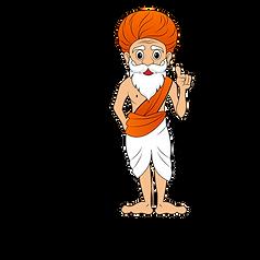 the dance guru mascot standing