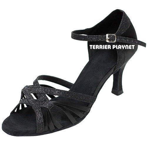 Ladies Black Latin Shoe single ankle strap
