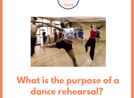 What is the purpose of a dance rehearsal?