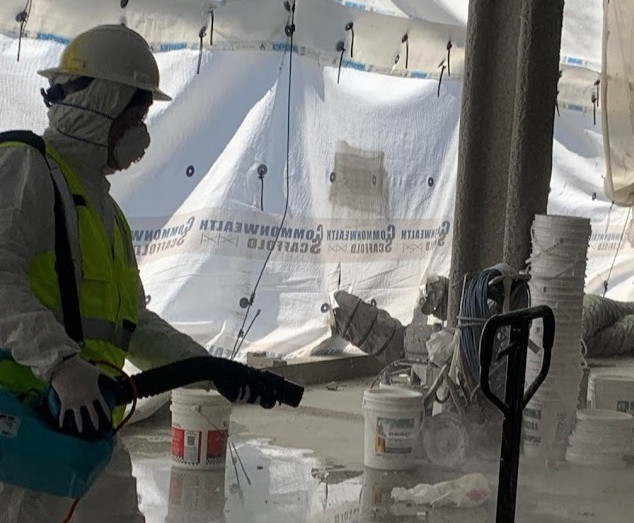 Disinfection at Construction Site