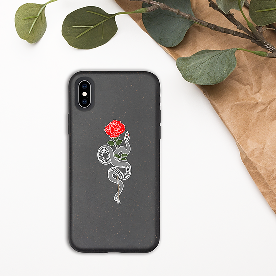 BIODEGRADABLE ROSE IPHONE CASE