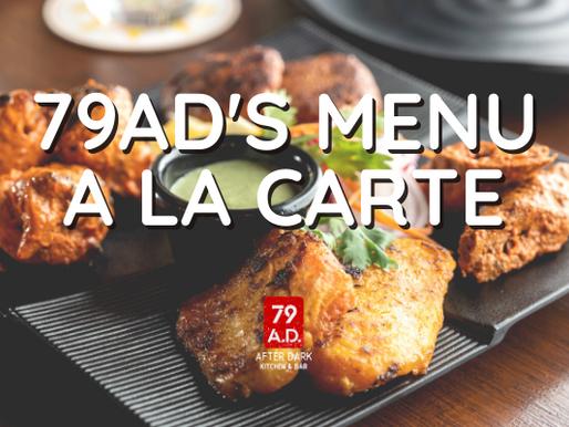 79AD'S MENU A LA CARTE