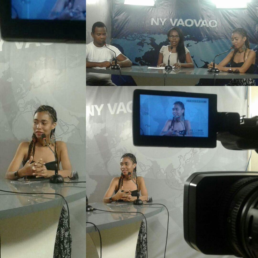 Angie invitée à M3tv Majunga