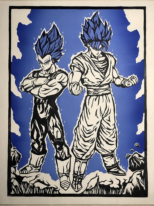 Super Saiyan God Blue Goku & Vegeta