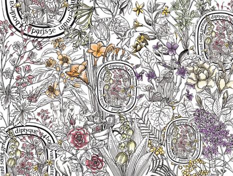 Diptyque, animation le langage des fleurs.