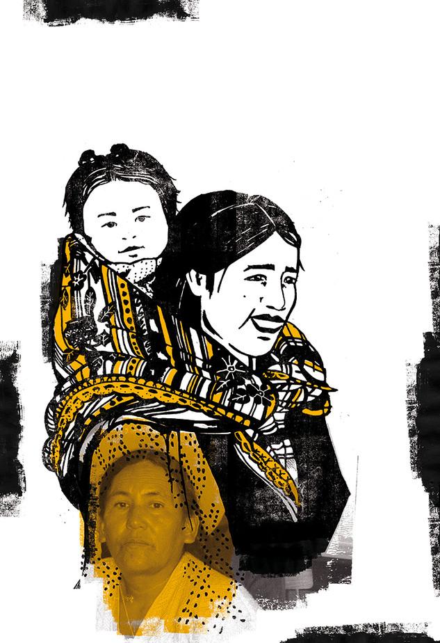 Série d'illustrations pour une exposition sur la Bolivie.
