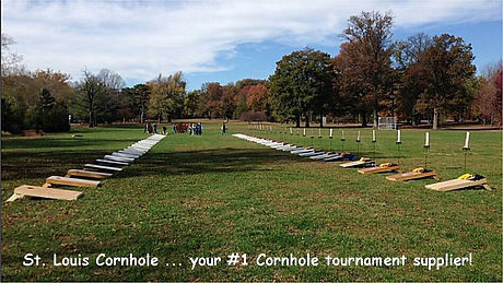 St. Louis Cornhole Tournament Set Up