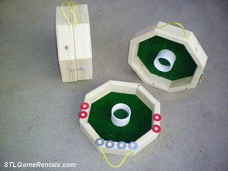 Octagon Wooden Washer Toss Game Rental