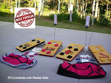 St. Louis Cornhole Rental Sets