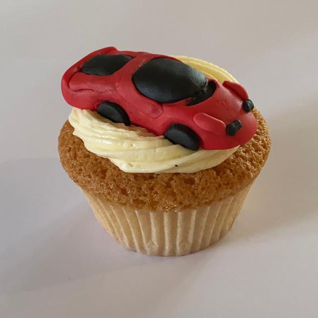 MCC300 - Red Supercar cupcake