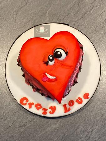 VAL120 - Crazy Love Heart - Valentines Cake