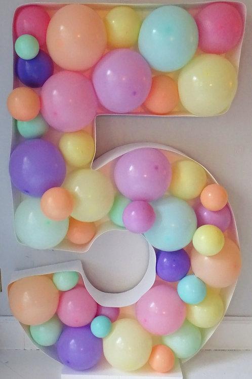 Balloon Number Mosaic (single digit) £60