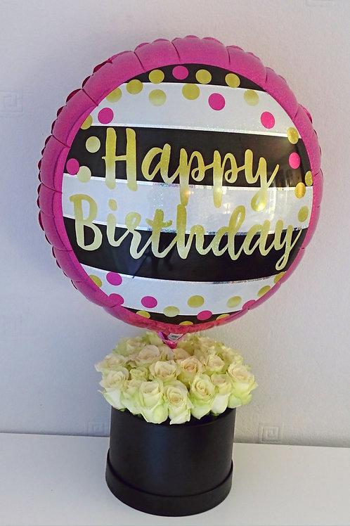 Stripey Birthday Bloom Box £40 - £55
