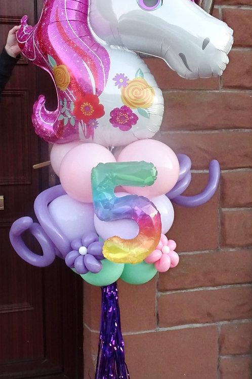 Unicorn Balloon Pole £35