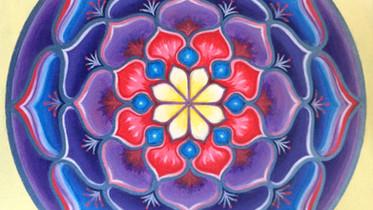 Conscience En Soi : Créer et peindre son propre mandala suite à une étude de couleurs symboliques
