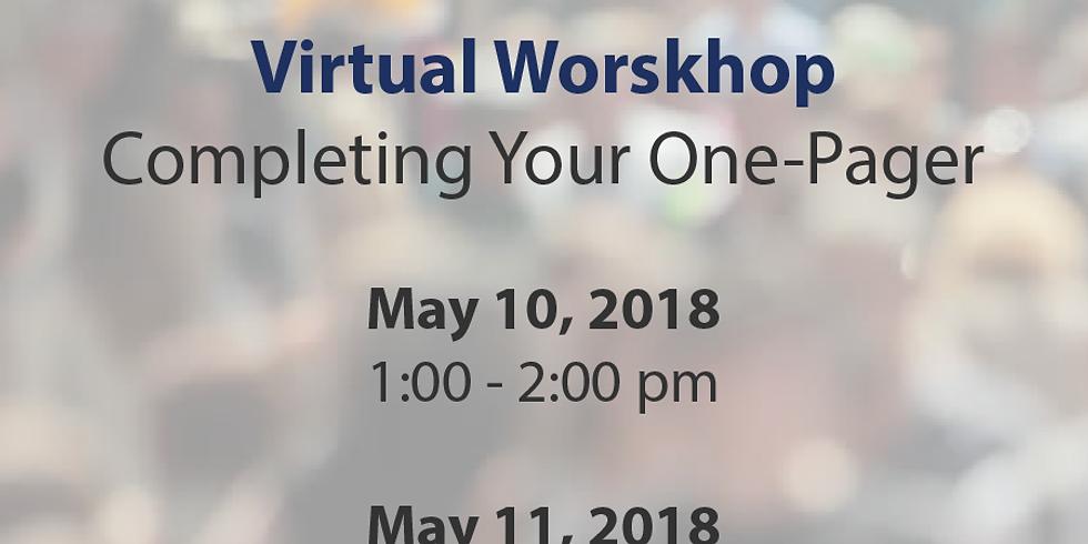 Virtual Workshop (May 11)
