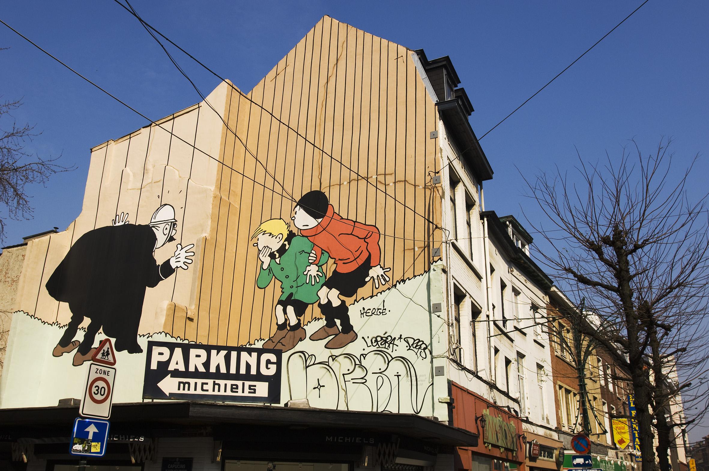 cartoon wall