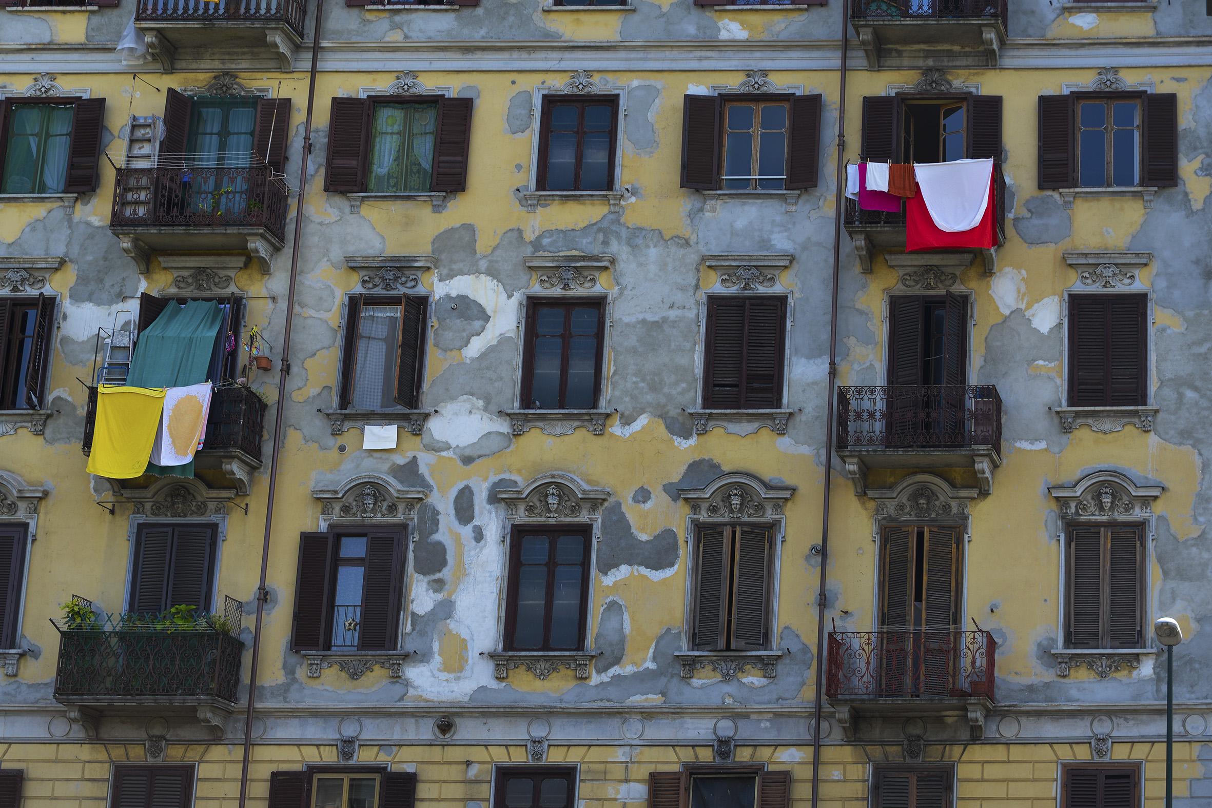 patchwork facade