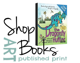The Dragonfly Hunter Children's rhyming book about insects, shapes, numbers, written and illustrated by Mississippi artist Amanda Spiers Sanford