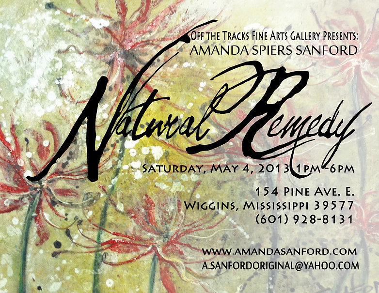 Naked Ladies Red Wild Flowers Local Artist Amanda Spiers Sanford Impaso Fresco Acrylic canvas