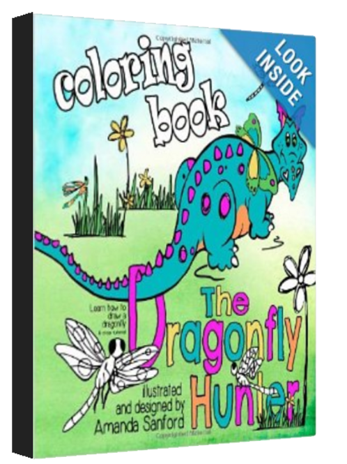 THE DRAGONFLY HUNTER - coloring/activity Book