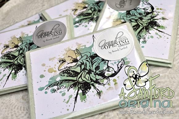 GRAND OPENING - set of 5 deluxe art notecard set