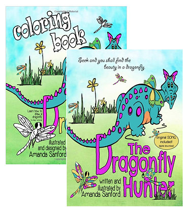 THE DRAGONFLY HUNTER COMBO-autograph book/coloring