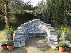 Dry Stone Garden Bench