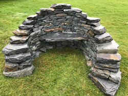 dry stone bench