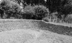 Curved retaining Cornish Hedge