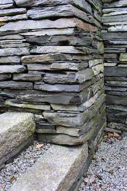 Granite lintel steps into dry stone