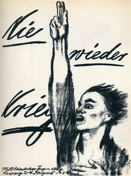 Kollowitz, Never Again War!, 1924