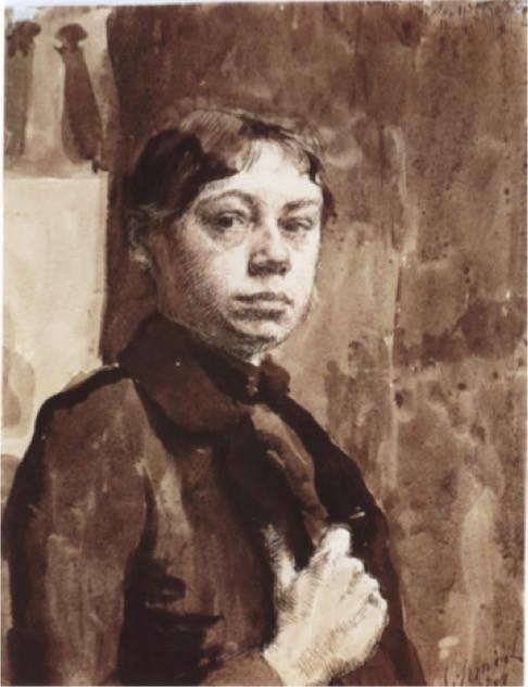Kollowitz Self-Portrait 1889