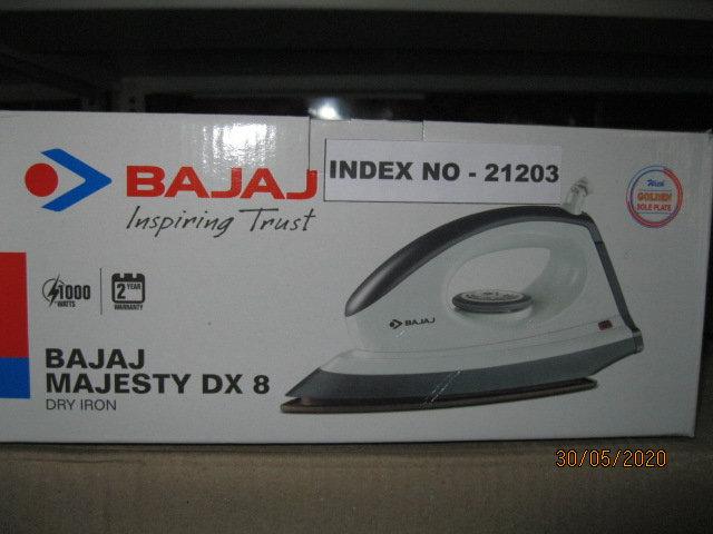 BAJAJ MAJESTY  D X 8 DRY IRON ( ISI MARK)