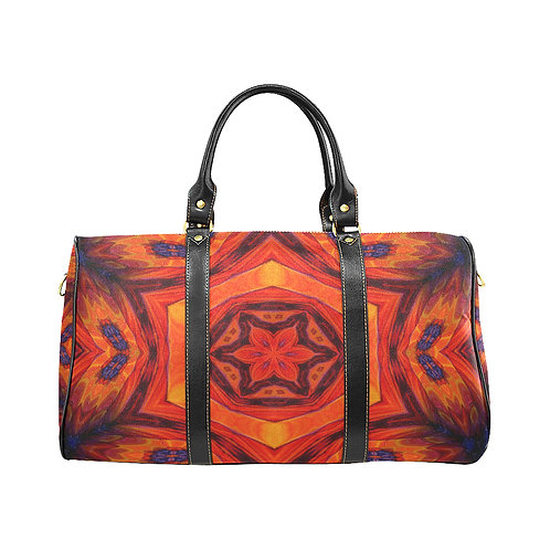 Red Kaleidoscope #6 - Waterproof Travel Bag