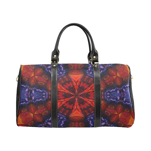 Red Kaleidoscope #2 - Waterproof Travel Bag