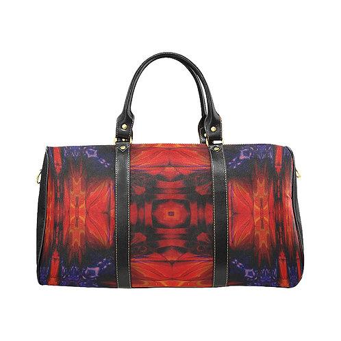 Red Kaleidoscope #5 - Waterproof Travel Bag