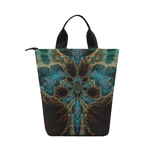 Fractal Goddess - Nylon Lunch Tote Bag