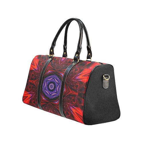 Red Kaleidoscope #4 - Waterproof Travel Bag